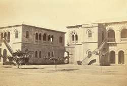 The offices of the Indo European Telegraph Department, Kurrachee [Karachi]. Courtyard in Rear of the office.